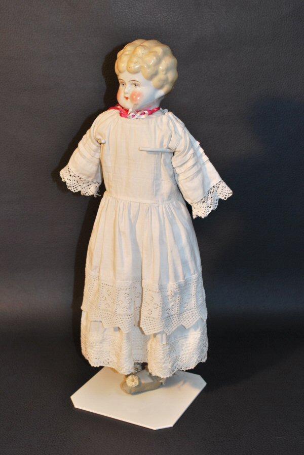 Antieke pop Agnes, Duits - Antiekboerderij Het Wagenwiel