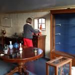 De binnenmuur is klaar, alleen nog even behangen en sauzen.