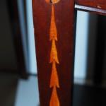 4 eetkamerstoelen, mahonie met intarsia, Art Deco ca 1930 - Antiekboerderij het Wagenwiel (3)