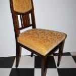 4 eetkamerstoelen, mahonie met intarsia, Art Deco ca 1930 - Antiekboerderij het Wagenwiel (6)