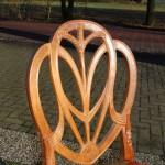 Hepplewhite stijl stoel, beukenhout, 20e eeuw, nieuw bekleed - Antiekboerderij het Wagenwiel (11)