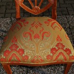 Hepplewhite stijl stoel, beukenhout, 20e eeuw, nieuw bekleed - Antiekboerderij het Wagenwiel (12)