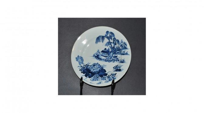 Antiek porseleinen bord, China, 18e eeuw, 230mm