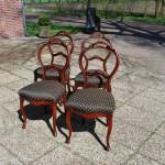 4 eetkamerstoelen Biedermeier ca 1860 - Antiekboerderij Het Wagenwiel (3)
