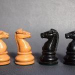 BCC British Chess Company weighted Staunton chess set 4inch - Dorland Chess 3