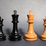BCC British Chess Company weighted Staunton chess set 4inch - Dorland Chess 4