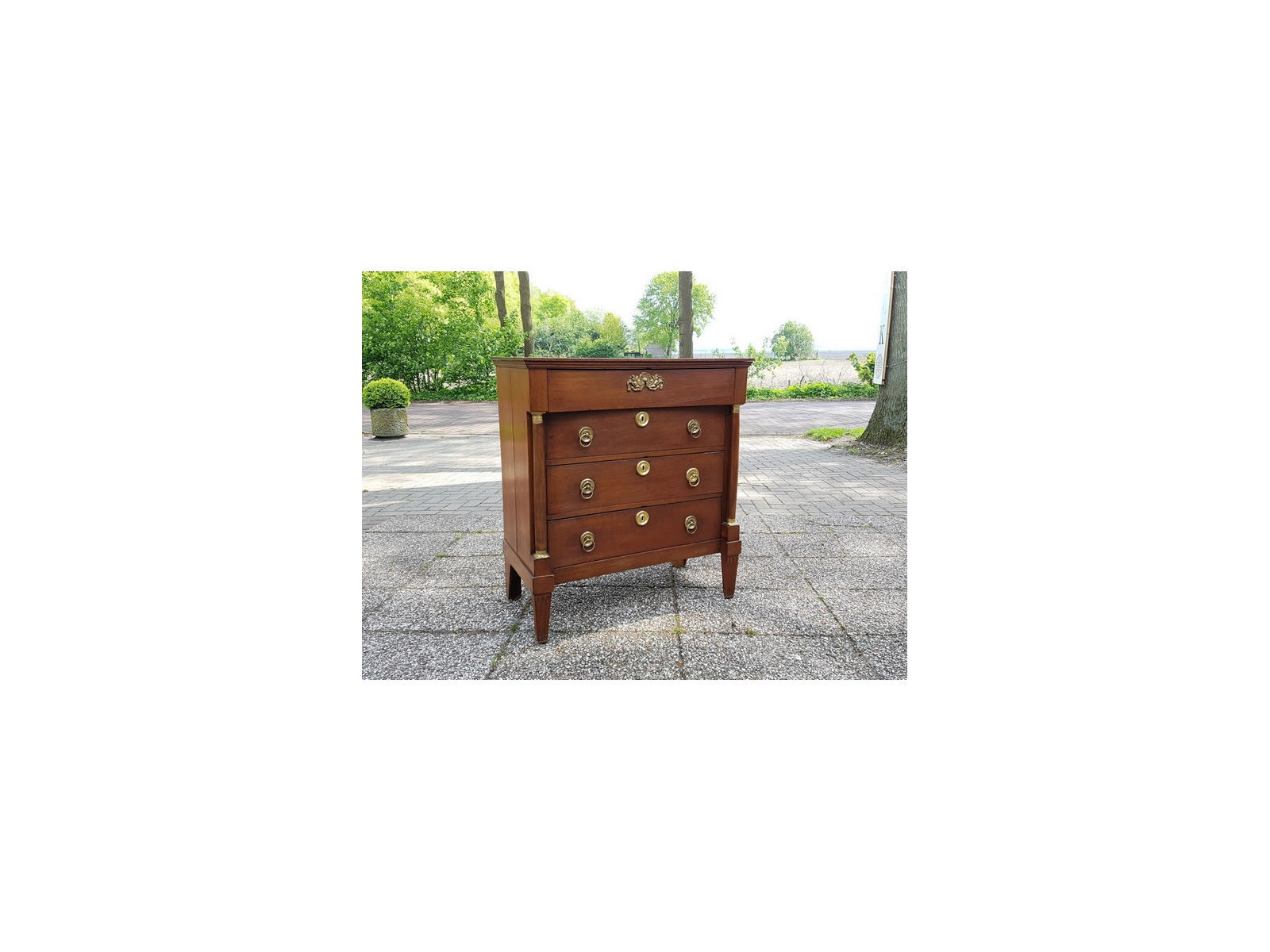 Antieke commode ladekast eiken empire 1830