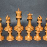 391 Antique Staunton chess set weighted 110mm approx 1880 - Antiekboerderij Het Wagenwiel