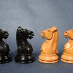 391 Antique Staunton chess set weighted 110mm approx 1880 - Antiekboerderij Het Wagenwiel 5