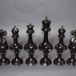 391 Antique Staunton chess set weighted 110mm approx 1880 - Antiekboerderij Het Wagenwiel 8