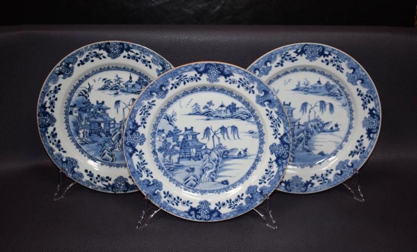 Antieke Chinese borden porselein Qianlong ca 1750 - Antiekboerderij Het Wagenwiel