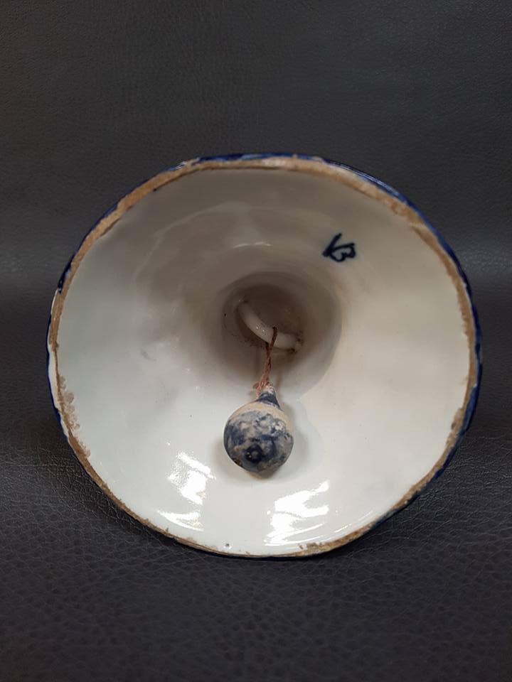 Antieke tafelbel Delfts blauw ca 1900 - Antiekboerderij Het Wagenwiel 1