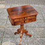 Antieke naaitafel mahonie Willem III ca 1870 - Antiekboerderij Het Wagenwiel 3