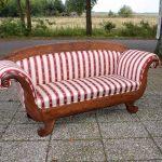 Antieke sofa, mahonie, Biedermeier - ca 1840, gestoffeerd - Antiekboerderij Het Wagenwiel 1