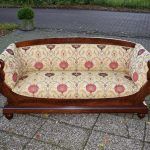 Antieke bank sofa mahonie Biedermeier ca 1850 - Antiekboerderij Het Wagenwiel