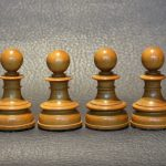 393 - Antique Chess Set, Northern Upright, 5 inch, England, mid 19th century, ebony and boxwood - Dorland Chess (12)