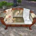 Antieke bank sofa, mahonie, Biedermeier ca 1840 - Antiekboerderij Het Wagenwiel (1)