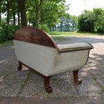 Antieke bank sofa, mahonie, Biedermeier ca 1840 - Antiekboerderij Het Wagenwiel (4)