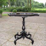 Antieke theetafel, notenhout gezwart, Willem III ca 1870 - Antiekboerderij Het Wagenwiel (1)