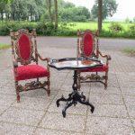 Antieke theetafel, notenhout gezwart, Willem III ca 1870 - Antiekboerderij Het Wagenwiel (2)