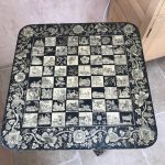Antieke schaaktafel Antique chess table England approx 1830, excellent condition (7)