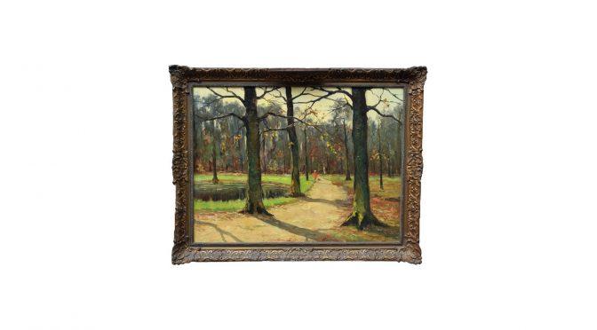 Schilderij 'Haagse bos', olieverf op doek, 60 x 80cm, Arie Wassenburg (Delft 1896 – 1970)