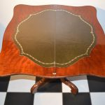 Antieke speeltafel kaarttafel sidetable mahonie, Biedermeier ca 1860 - Antiekboerderij Het Wagenwiel (1)