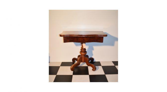 Antieke speeltafel / kaarttafel / sidetable, mahonie, Biedermeier ca 1860