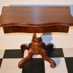 Antieke speeltafel kaarttafel sidetable mahonie, Biedermeier ca 1860 - Antiekboerderij Het Wagenwiel (3)