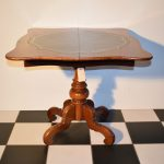 Antieke speeltafel kaarttafel sidetable mahonie, Biedermeier ca 1860 - Antiekboerderij Het Wagenwiel (4)