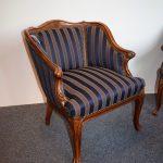 Antieke bank en fauteuils, notenhout, ca 1870 - Antiekboerderij Het Wagenwiel (2)