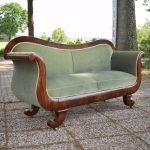 Antieke bank sofa, mahonie, Biedermeier ca 1850 - Antiekboerderij Het Wagenwiel (34)