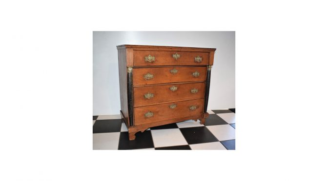 Antieke commode, eiken, Hollands, 2e helft 19e eeuw