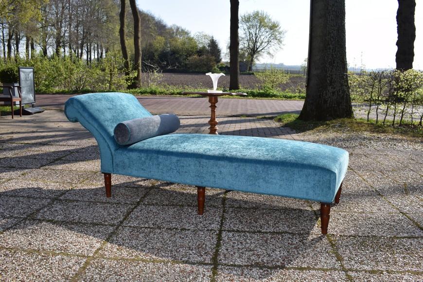Antiek daybed sofa, Victoriaans ca 1900 - Antiekboerderij Het Wagenwiel (1)