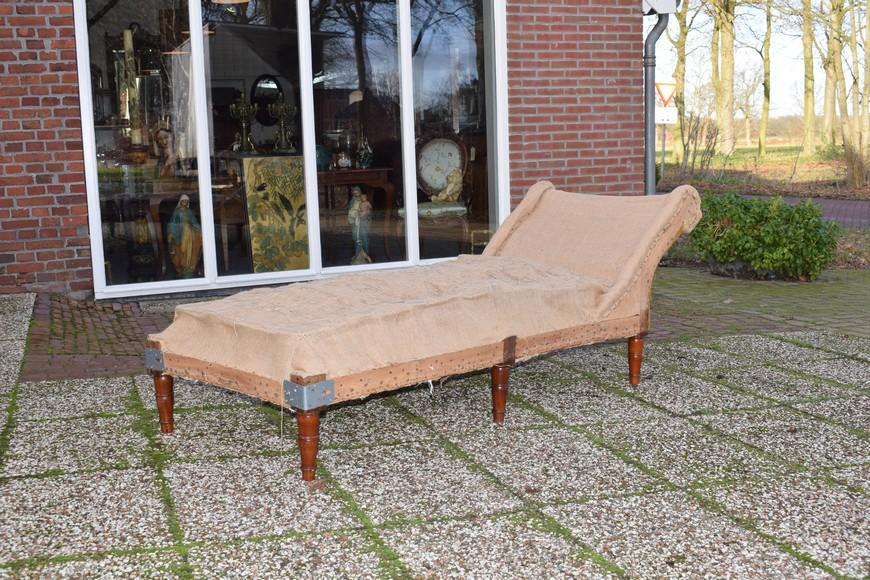 Antiek daybed sofa, Victoriaans ca 1900 - Antiekboerderij Het Wagenwiel (1c)