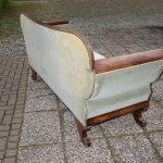 Antieke bank sofa, mahonie, Biedermeier ca 1850 - Antiekboerderij Het Wagenwiel (1)