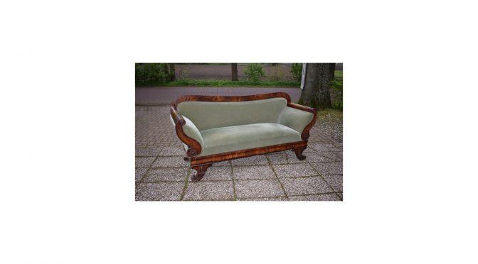 Antieke sofa / bank, mahonie, Empire – ca 1830