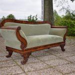 Antieke bank sofa, mahonie, Biedermeier ca 1850 - Antiekboerderij Het Wagenwiel (5)