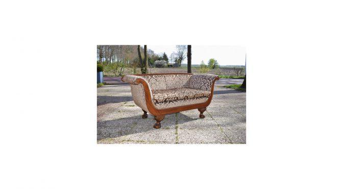 Antieke sofa bank mahonie 19e eeuw - Antiekboerderij Het Wagenwiel (8a)