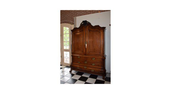 Antiek kabinet, Louis Quinze – ca 1770, eiken, klein formaat!