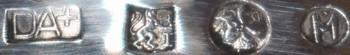 Zilveren kandelaar 5 lichts, 1e gehalte zilver, Van Kempen en Begeer 1947 - Antiekboerderij Het Wagenwiel (6a)
