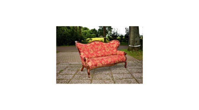 Antieke sofa / bank, mahonie, Willem III periode ca 1870